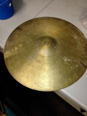 dirty cymbal prior to cleaning at LADS
