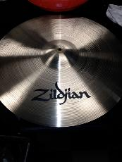 Cymbal after cleaning and Zildjian logo replaced